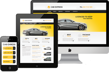 responsive website design for private hire companies